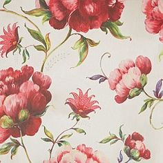 Behang, grote bloemen