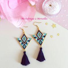 """Boucles d'oreilles en perles Miyuki """"Lilia"""" : Boucles d'oreille par ma-fabrique-a-merveilles"""