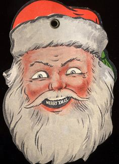 Go away scary vintage Santa! Creepy Vintage, Vintage Santas, Old Christmas, Little Christmas, Christmas Goodies, Christmas Greetings, Christmas Ideas, Vintage Christmas Images, Christmas Pictures