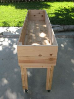 portable garden planter.. Great for herb garden! Move it around the deck... I want a couple of these!