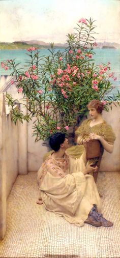 """Courtship"" by Lawrence Alma-Tadema, 19th century"