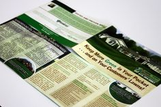 Custom designed 5.5″ x 8.5″ folded full color brochure for SumaGreen, a landscaping company in Nashville, TN. The different shape of this brochure sets it apart from competitors and the different size also allows for more information than the typical trifold brochure.