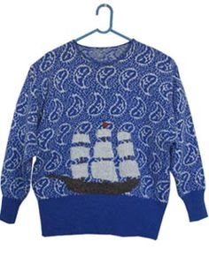 all hands on deck /  hand embroidery on reclaimed sweaters /  http://www.allhandsondeck.biz/sweaters.html