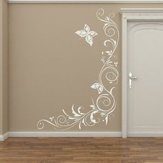 Butterfly & Flowers corner wall decal                                                                                                                                                                                 More