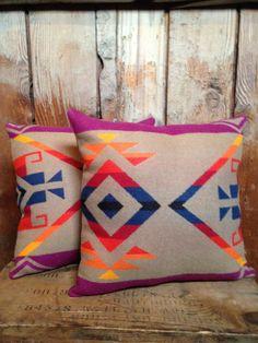 Native American Pendleton Throw Pillow Wool by IndianvsIndian