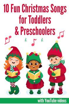 10 Fun Christmas Songs for Toddlers & Preschoolers