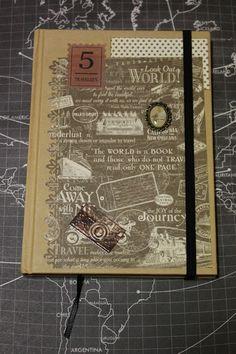 Sumaluna, cuaderno decorado a mano scrap hand made diy