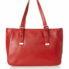 Zenith Women's Wall Street Buckle Tote, Red