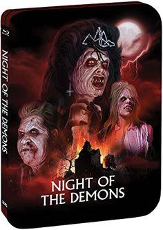 Night Of The Demons Limited Edition Steelbook Blu-ray: Amazon.co.uk: DVD & Blu-ray Halloween Night, Halloween Party, Demons 2, Night Of The Demons, Dana Andrews, Sleepaway Camp, Scream Queens, Dvd Blu Ray