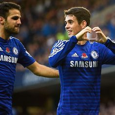 Oscar and Cesc Fabregas are perfect foils in Chelsea's creative midfield role