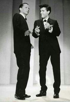 Frank Sinatra and Elvis, 1960