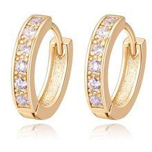 Aaa CZ Diamond pendientes moda Vintage joyería Cubic Zirconia pendientes de aro pequeño para para 22464(China (Mainland))