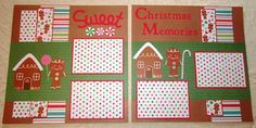 2 page 12x12 premade scrapbook layout gingerbread house for Premade floor plans