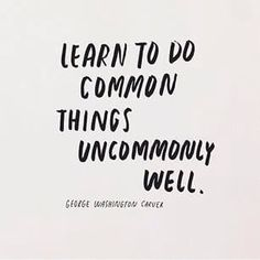 uncommonly well