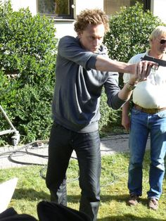 Tom Hiddleston as Magnus Martinsson in Wallander... Well Tom, that's rather hot.. ya know? You shooting a gun.