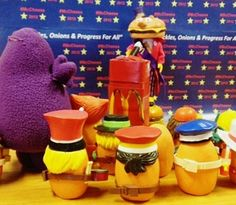 Mayor McCheese answering a tough question from Grimace - #Election2012 #mcdonalds #mcdonaldland