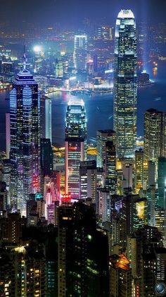 City Lights, Hong Kong, 2010 photograph by Jörg Dickmann.