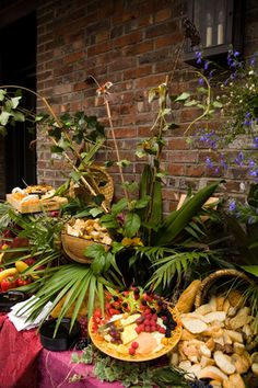 Food and flowers! Great floral arrangements are essential!