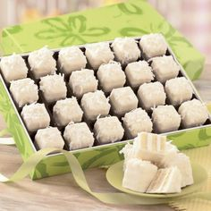 Coconut Petits Fours from The Swiss Colony® Sure to become one of your favorite treats! www.swisscolony.com