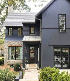 """1,511 Likes, 64 Comments - Kathleen Field • Utah Designer (@lindsay_hill_interiors) on Instagram: """"Here's another dark exterior beauty for you . The combination of dark paint, black windows, light…"""""""