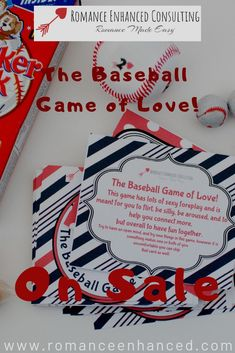 Give your sweetheart the gift of a unforgettable Christmas gift and stress free Romantic Baseball themed Date and romantic room experience that is all sent to you in box! With this romantic baseball gift package you will get baseball decor for a party for two, light refreshments, The Baseball Game of Love bedroom game, and some mistletoe as well! This makes a great romantic gift for a fun and flirty Christmas date, Anniversary date, or birthday date for him! #romanticroom #datenightforhim