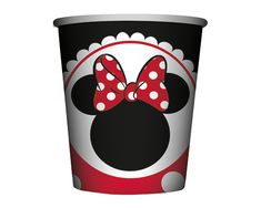 Minnie Roja Vaso 9 Oz Lightning, Discovery, Minnie Mouse, Plastic Cups, Lighting, Lights, Zippers