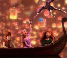 Hiccup:what? Rapunzel: Ah! Merida: hu? Jack: yeah!!