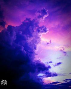 ✿ڿڰۣ Storm clouds, blue reaching for the purple    #nature #photography
