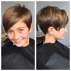 Little Girl Haircuts Pixie Little Girls Pixie Haircuts, Little Girl Short Haircuts, Kids Girl Haircuts, Pictures Of Short Haircuts, Cool Short Hairstyles, Short Pixie Haircuts, Little Girl Hairstyles, Pixie Hairstyles, Short Hair Styles