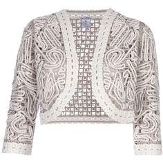 OSCAR DE LA RENTA cotton bolero ($1,415) ❤ liked on Polyvore
