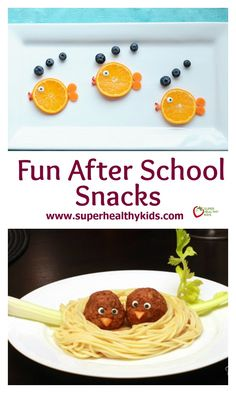 Fun After School Snacks. These fun snacks are sure to make your kids smile…