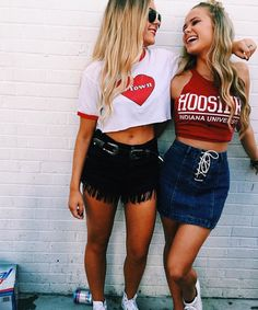University of indiana-bloomington snapshot college outfits, Fall College Outfits, Back To School Outfits, Casual Summer Outfits, Cute Outfits, Teen Outfits, College Games, College Game Days, College Life, College Dorms