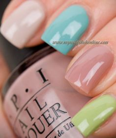 I keep seeing this OPI nail laquer. The colors are nice and soft. I prefer subtle nail color.
