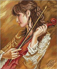 Violin Sonata - Cross Stitch Kits by RTO - M437