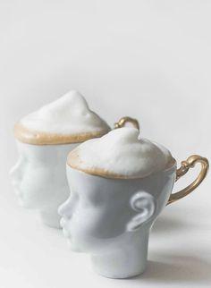Foam head cappuccino cups