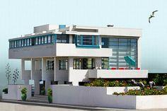 Lovell Beach House 1926 Newport Beach Los Angeles California Richard Neutra Richard