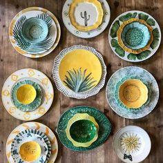 Home Deco Andrea ceramic pottery handmade ceramicart ceramics Keramik von Zarraluqui Ceramic Plates, Ceramic Pottery, Pottery Art, Decorative Plates, Painted Pottery, Slab Pottery, Pottery Studio, Pottery Painting, Ceramic Painting