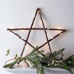 Mooie kerst ster met verlichting Eenvoudig gemaakt ...( Marjolein 131 )