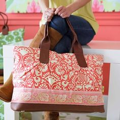 "Amy Butler bag ""Sari Flowers"" at Desiary"