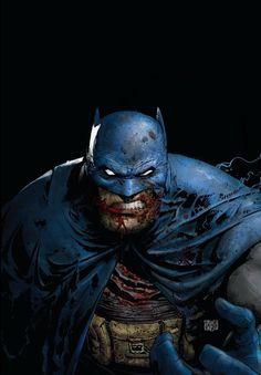 Batman 'The Dark Knight Returns' by Greg Capullo Batman The Dark Knight, Batman And Batgirl, Batman Dark, Batman Vs Superman, Batman Arkham, Batman Robin, Future Batman, Batman Artwork, Comic Art