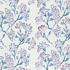 magnolia tree - peony fabric | Designers Guild