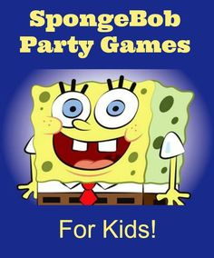 Spongebob Party Games for Undersea Fun! Check out these fun Spongebob Party Games for Undersea Fun! Be a hit at your child's next birthday party with these Spongebob Birthday Party, Birthday Party Games, Boy Birthday, Birthday Ideas, Spongebob Party Ideas, Spongebob Crafts, Kids Party Games, Games For Kids, Spongebob Face