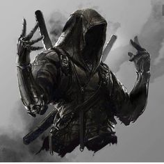 Noob Saibot is the coolest mother fucker. Just kidding. Noob Saibot is the coolest mother fucker. Just kidding. Ninja Kunst, Arte Ninja, Ninja Art, Fantasy Armor, Dark Fantasy Art, Dark Art, Fantasy Character Design, Character Art, Character Inspiration