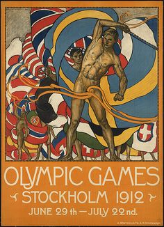 (some interesting ribbon work!)  Olympic Games. Stockholm 1912 by Boston Public Library, via Flickr
