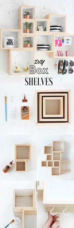Check out the tutorial: #DIY Box Shelves @istandarddesign
