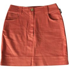 Pre-owned SONIA RYKIEL Orange Viscose Skirt (1.565 RUB) ❤ liked on Polyvore featuring skirts, bottoms, sonia rykiel skirt, sonia rykiel, orange skirt, red skirt and rayon skirt