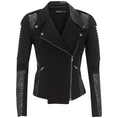 Supertrash Jacket Jagan Black (1 400 SEK) ❤ liked on Polyvore featuring outerwear, jackets, tops, black, coats, women, motorcycle biker jacket, zipper jacket, pocket jacket and motorcycle jacket