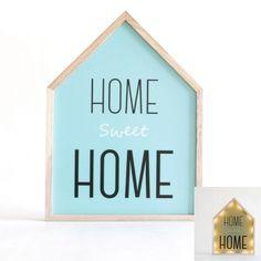 """Quel bonheur d'être chez soi, n'est-ce pas ? Ce cadre déco lumineux """"home sweet home""""à l'éclairage doux vous donnera envie de ne plus quitter la maison ! Facile à installer au mur ou bien sur un meuble, il apportera une touche moderne et inédite à la décoration en place. Ce tableau muni de LEDfonctionne à l'aide de piles.  Dimensions : 24 x 3 x 32 cm"""