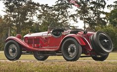 1930 Alfa Romeo 6C 1750 GS Spider by Zagato. Beautiful, classic, vintage, car in Red. One of the most beautiful.
