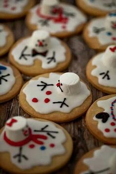 Photo only...sugar cookies with decos! Great family movie night treat for any winter type movie! Even in this family Summer treat! We love SnowPeople! Mth!